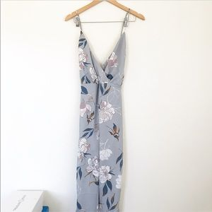 Floral printed wide leg jumpsuit
